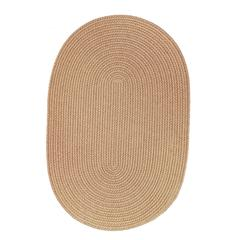 Rhody Rug Solid Wheat Wool 2X6 Oval