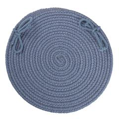 "Rhody Rug Solid Sailor Blue Wool 15"" Chair Pad"