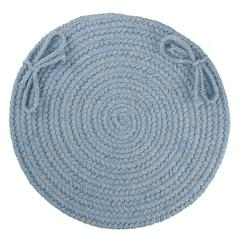 "Rhody Rug Solid Blue Bonnet Wool 15"" Chair Pad"