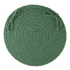 "Rhody Rug Solid Hunter Green Wool 15"" Chair Pad"