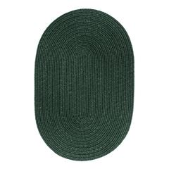 Solid Hunter Green Wool 8X11 Oval