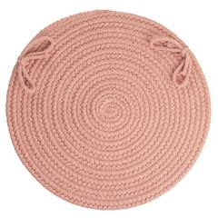 "Solid Old Rose Wool 15"" Chair Pad"
