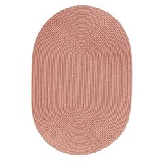 Rhody Rug Solid Old Rose Wool 5X8 Oval