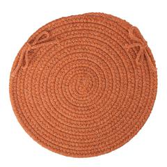 "Solid Terra Cotta Wool 15"" Chair Pad"