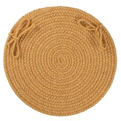"""Solid Vintage Gold Wool 15"""" Chair Pad"""
