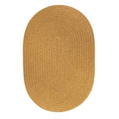Solid Vintage Gold Wool 4X6 Oval