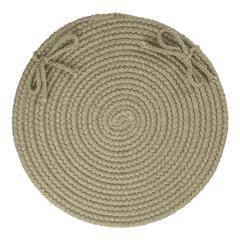 "Solid Moss Green Wool 15"" Chair Pad"