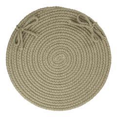 "Rhody Rug Solid Moss Green Wool 15"" Chair Pad"