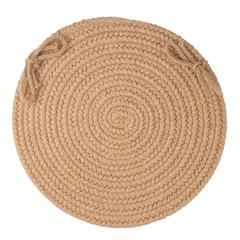 "Solid Taupe Wool 15"" Chair Pad"