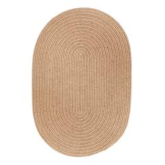 Solid Taupe Wool 2X6 Oval