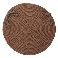 "Rhody Rug Solid Walnut Wool 15"" Chair Pad"
