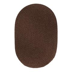 Solid Walnut Wool 7X9 Oval