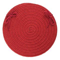 "Rhody Rug Solid Scarlet Wool 15"" Chair Pad"