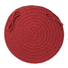 "Solid Barn Red Wool 15"" Chair Pad"