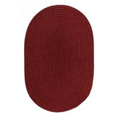 Solid Barn Red Wool 2X4 Oval