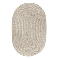 Solid Lt. Gray Wool 5X8 Oval