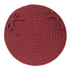 "Solid Red Wine Wool 15"" Chair Pad"