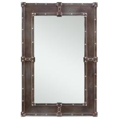 Cooper Classics Lamare Mirror, Black Finish with Rust Overtones