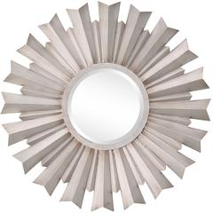 Dylan Mirror, Aged Silver Finish, Beveled Mirror