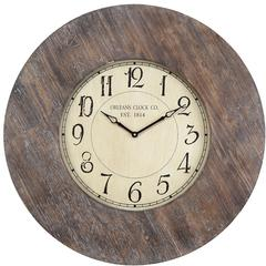Cooper Classics Williston Clock, Aged Wood Finish, Under Glass