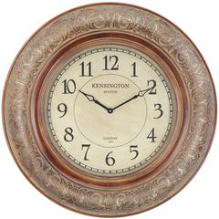 Cooper Classics Mackenzie Clock, Aged Copper Finish, Under Glass
