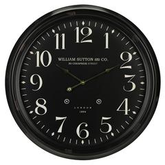 Norton Clock, Aged Black Finish, Under Glass