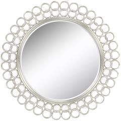 Salina Mirror, Silver Finish, Beveled Mirror