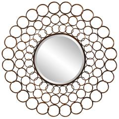 Vernon Mirror, Cooper Finish, Beveled Mirror