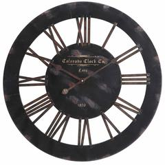 Elko Clock, Distressed Black Finish