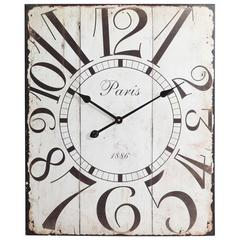 Redding Clock, Distressed Off White Finish