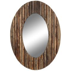 Loveland Mirror, Natural Rustic Wood Finish