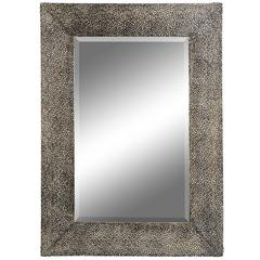 Andover Mirror, Aged Bronze Finish, Beveled Mirror