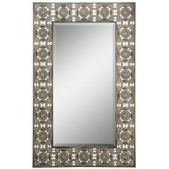Cooper Classics Ashville Mirror, Distressed Bronze Finish, Beveled Mirror