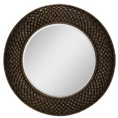 Hewitt Mirror, Aged Gold Finish, beveled mirror
