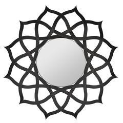 Comran Mirror, Aged Black Finish