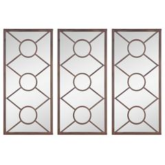Benton Mirrors- Set of 3, Aged Copper Finish