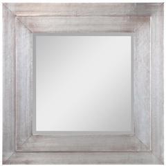 Sofia Mirror, Aged Silver Finish, Beveled Mirror
