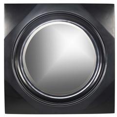 Cooper Classics Spruce Mirror, Black Finish, Beveled Mirror