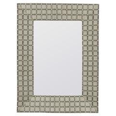 Cooper Classics Beauclaire Mirror, Cream Woven Fabric Finish