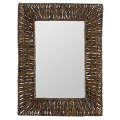 Cooper Classics Manhattan Mirror, Brown Recycled Snack Wrap Finish