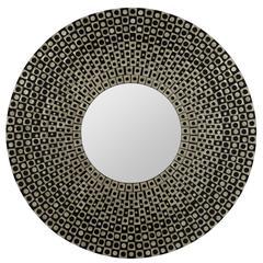 Cooper Classics Portland Mirror, Champagne and Black Finish, Repurposed Sea Shells