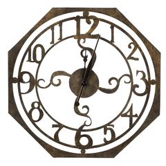 Ruhard Clock, Rustic Bronze Finish