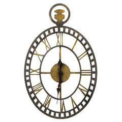 Malibu Clock, Rustic Bronze and Gold Finish