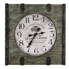 St. Clair Clock, Distressed Wood Finish
