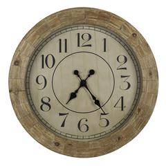 Fairbanks Clock, Distressed Wood Finish, Under Glass