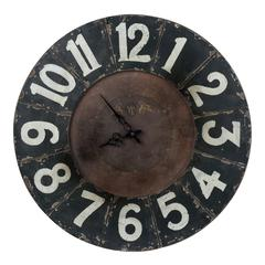 Balencia Clock, Distressed Black Finish