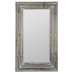 Turner Mirror, White Wash Finish, Beveled Mirror