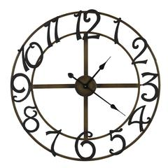 La Salle Clock, Gold and Black Finish