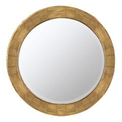 Cooper Classics Kettler Mirror, Natural Wood Finish, Beveled Mirror