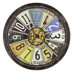 Cooper Classics Hildale Clock, Distressed Brown Finish